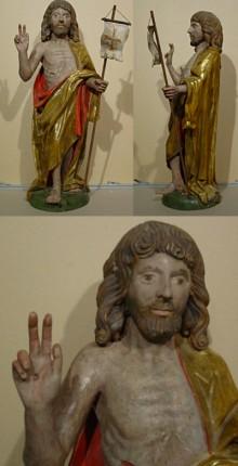 Spätgotischer Auferstehungschristus um 1500