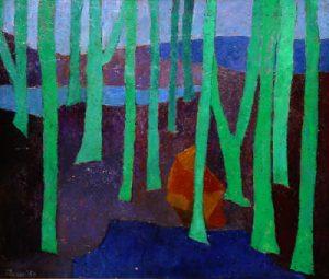 Irma Rafaela Toledo Ölbild Weiher im Walde
