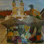 Rom, Spanische Treppe, ein Ölgemälde von Muthspiel