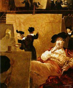 Gerhard Haderer Acryl Rembrand