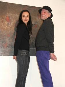 Anton Drioli mit der lettischen Künstlerin Lene von Lapschina