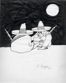 Tomi Ungerer Federzeichnung Mexikanische Banditen