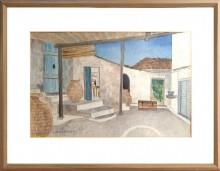 Herbert Breiter Aquarell Haus in Griechenland