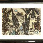 Kay Krasnitzky Lithographie handkoloriert Im Dschungel