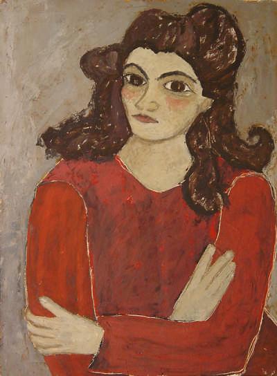 Mädchen im roten Kleid Engelsberger