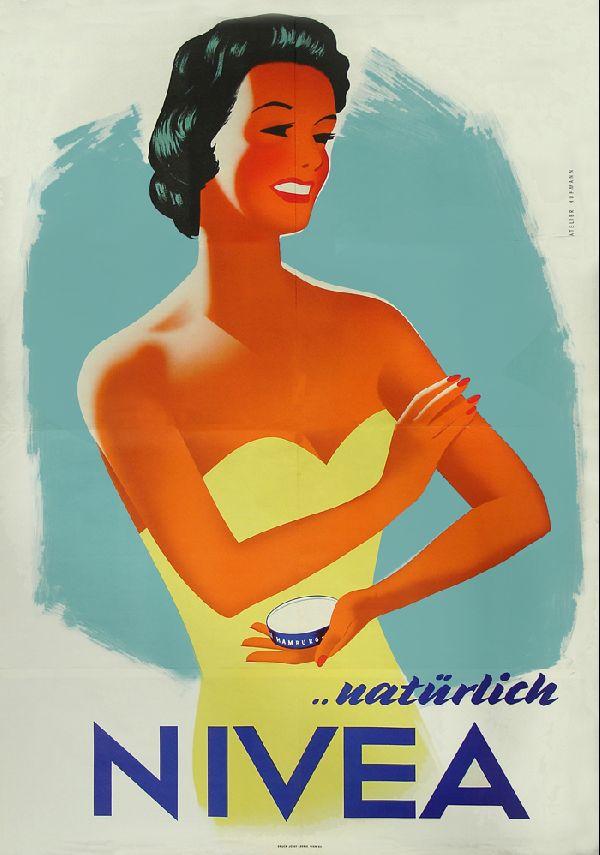 Vintage Kunst Natürlich Nivea 1 Plakat