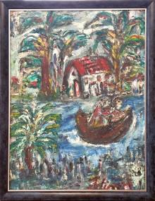 Fatima Ölbild Am Fluss 1990