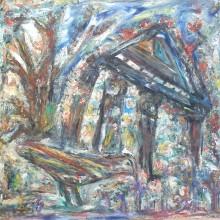 Fatima Ölbild Der Vogel 1988