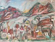 Fatima Ölbild Dorf in den Bergen Salzburgs 1985