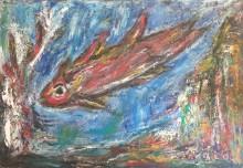 Fatima Ölbild Fisch 1990