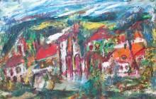 Fatima Ölbild Gebirgsweiler im Pinzgau 1992