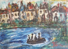 Fatima Ölbild Griechische Küste 1989