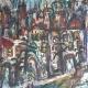 Fatima Ölbild Märchenhafter Blick auf Salzburg 1990
