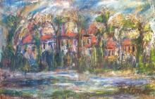 Fatima Ölbild Stadt am Fluss 1992