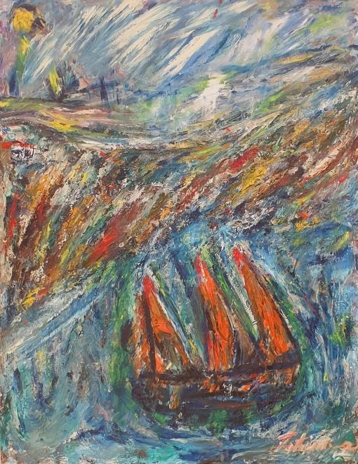 Fatima Ölbild Vor der Küste 1986